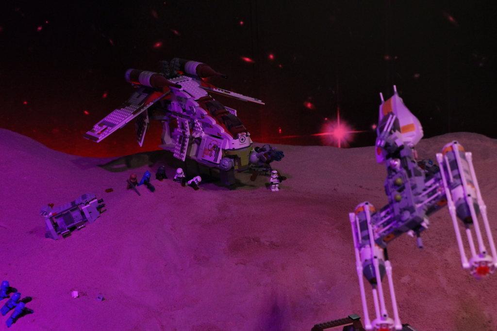 Y-Wing and Republic Gunship