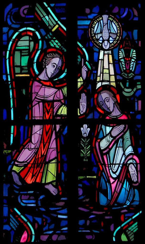 Mariä Verkündigung (rechtes Chorfenster Mitte)