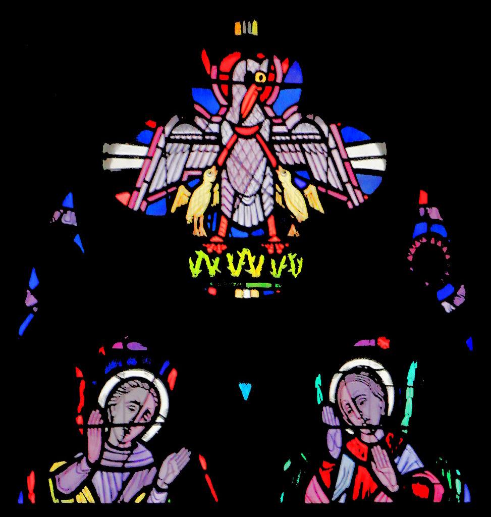 Pelikan (Vierpass rechtes Chorfenster)